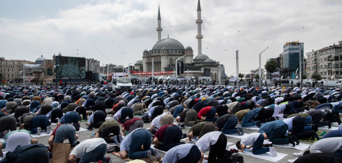 Taksim Mosque opening ceremony in Istanbul