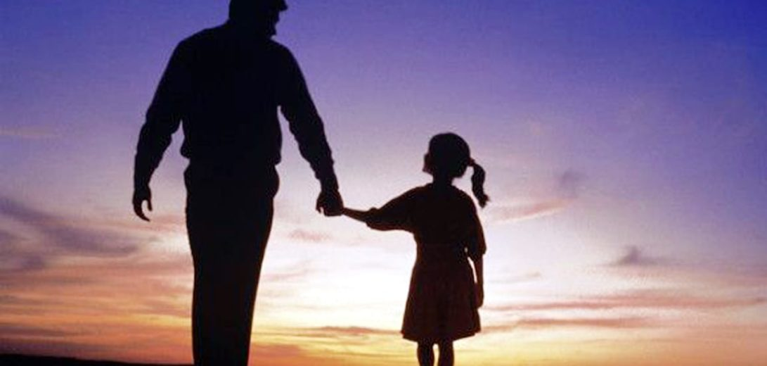 Father-and-Daughter-walking-together